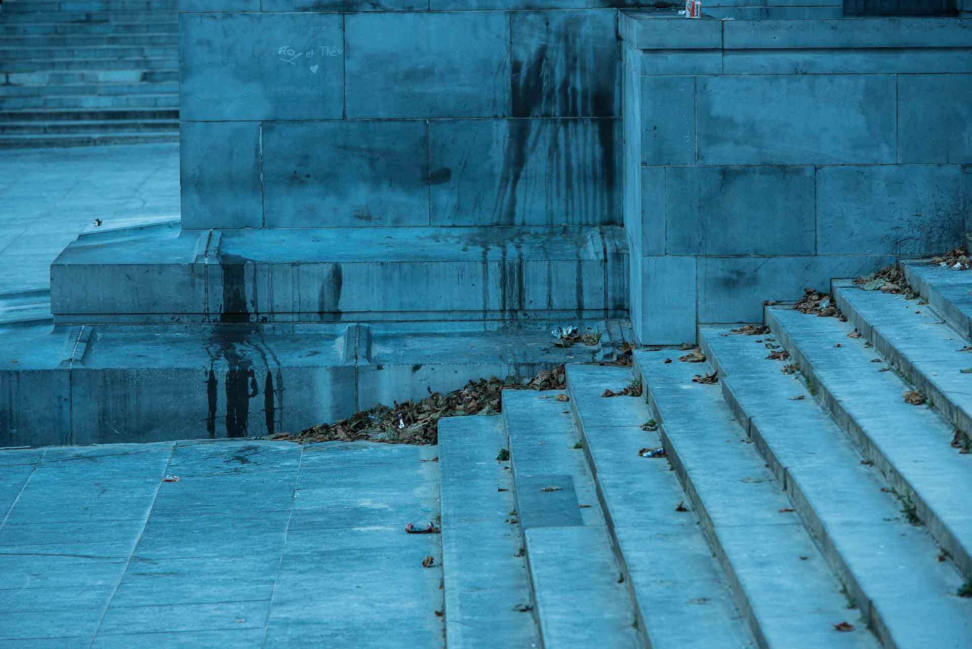Urban –  blue stairs